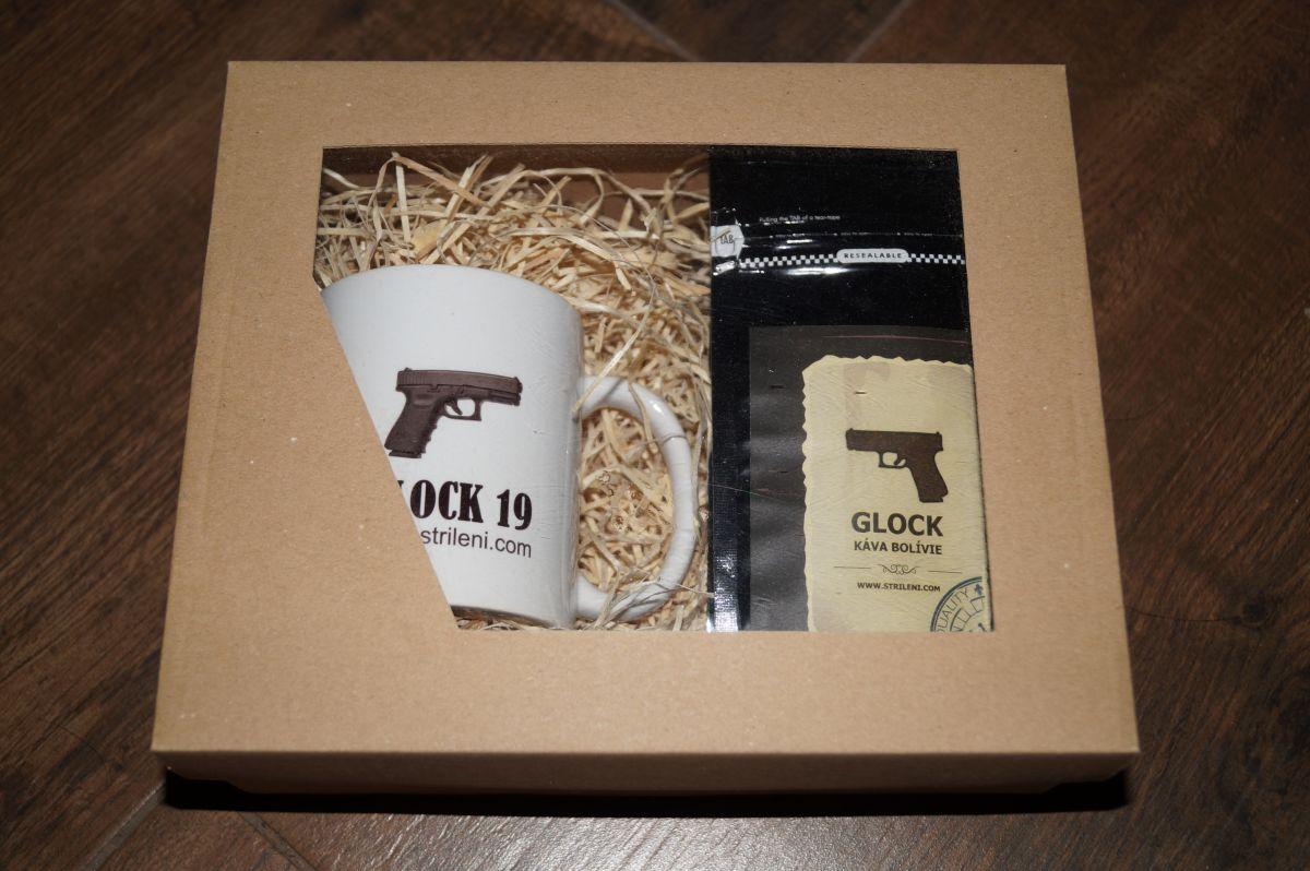 Dárkový set hrnek a káva Glock